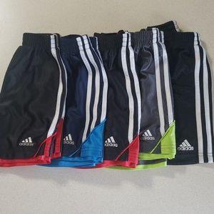 (5) size 3T Adidas shorts